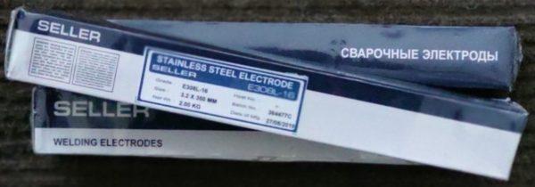 Электроды сварочные SELLER E 308L-16 d=3,2*350 (1 кг)